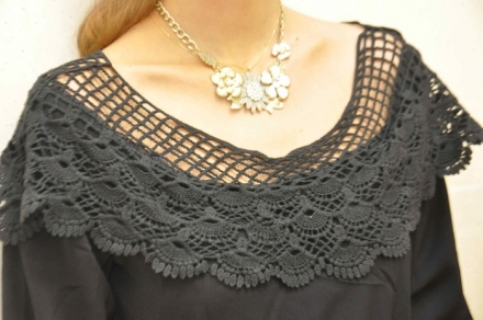 06012014 – Choies black tunic + statement necklace