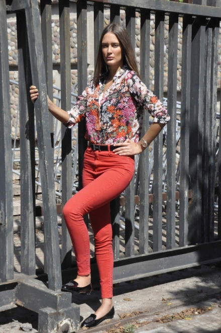04072014 – Flower print Fuero blouse