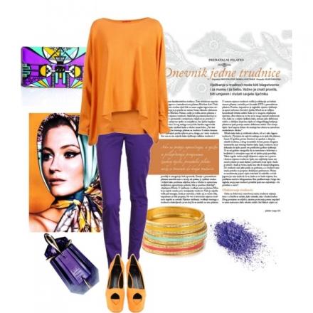 Orange & violet vont ensemble