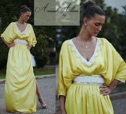 Yellow rainbow – Amina Allam by Caftan.me