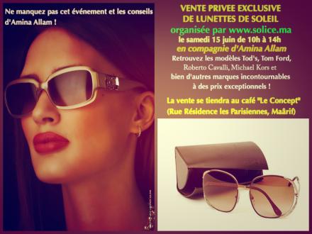 Vente privée exclusive de lunettes de soleil par www.solice.com