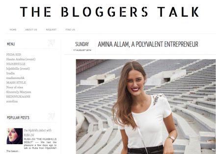 My interview on The Blogger's Talk