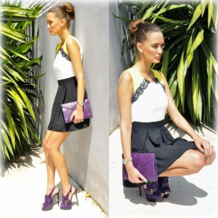 04042014 – Ramona lace contrast dress