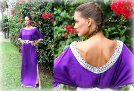 Amina Allam by Caftan.me – caftan robe violet