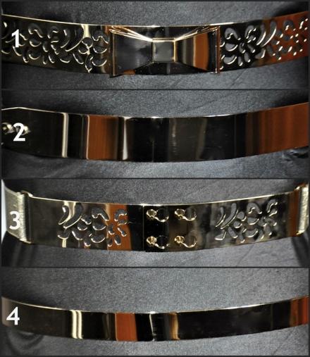 Les ceintures métalliques de Melany Brown