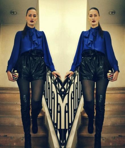 02122013 – Romwe faux leather shorts