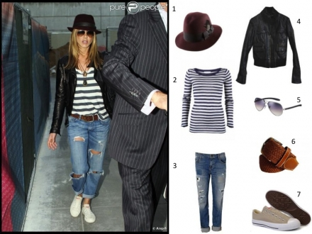 Le style cool de Jennifer Aniston