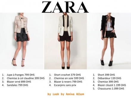 Tenues 100% Zara