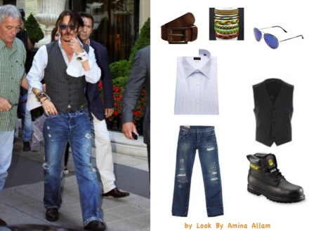 Le look « bad boy » de Johnny Depp