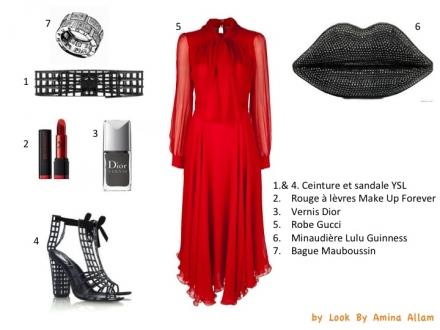 Rouge et glamour en Gucci