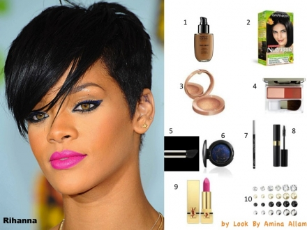 Le make-up de Rihanna