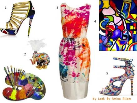 La femme artiste pleine de couleurs