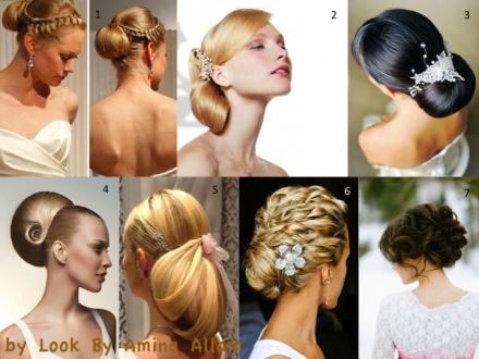 Belles coiffures pour la mariée