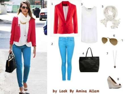 Le color block de Jessica Alba