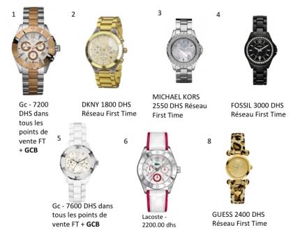 Une sélection de montres First Time