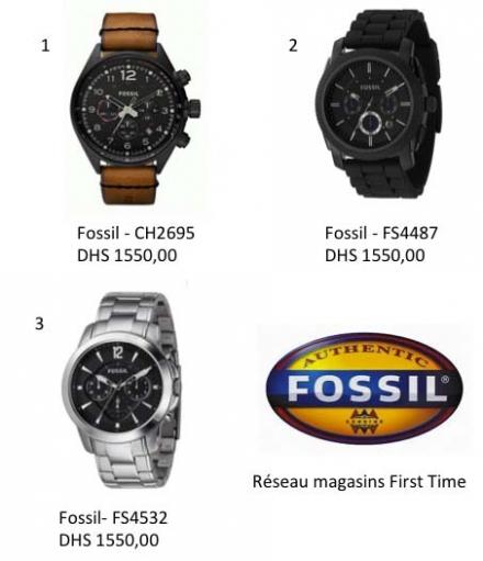 Les montres Fossil pour lui