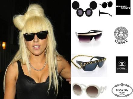 Les lunettes de Lady Gaga