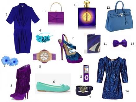 Un beau mariage de bleu et de violet