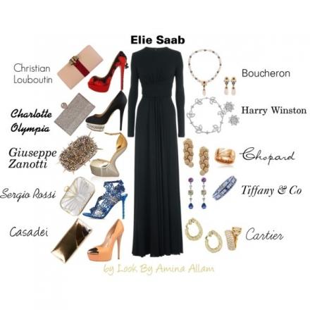 Quels accessoires avec la robe Elie Saab?
