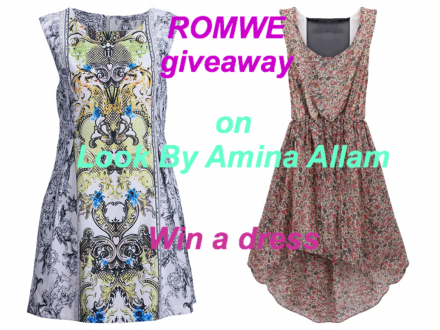 Romwe giveaway on my Facebook