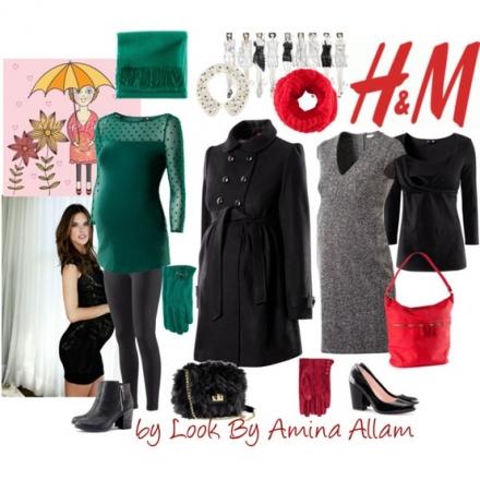 La femme enceinte s'habille chez H&M