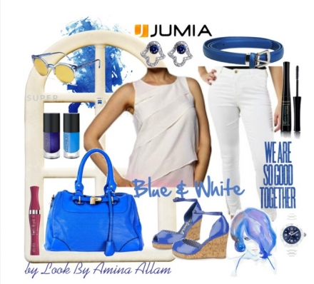 Look blue&white by Jumia