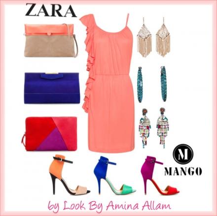 Robe de Mango, accessoires de Zara