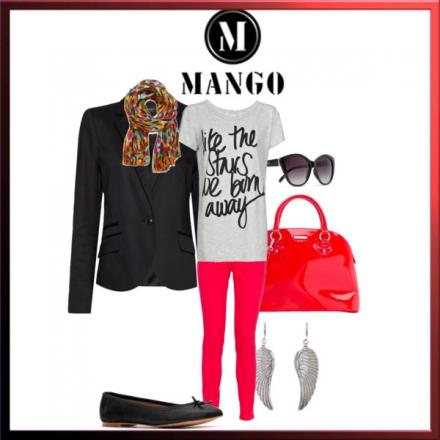 Rouge et noir par Mango