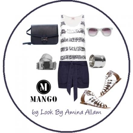 L'argenté et le bleu marine par Mango
