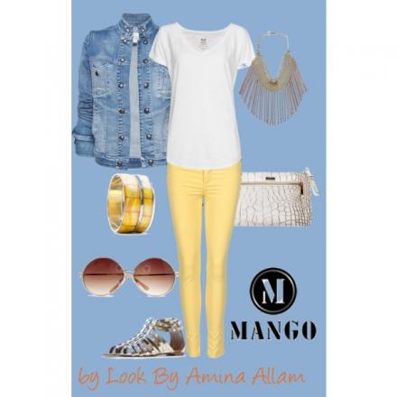 Le jeans jaune de Mango