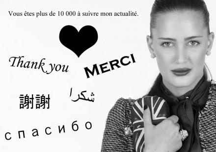 Merci à mes 10 000 fans!