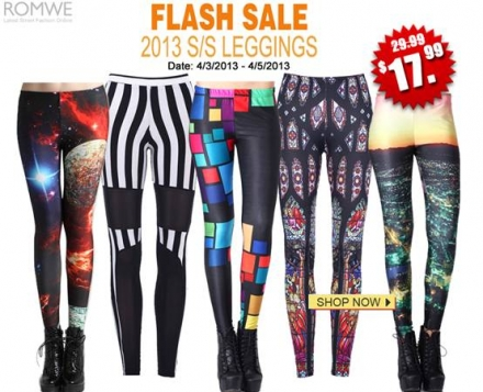 Romwe 2013 SS Leggings Flash Sale