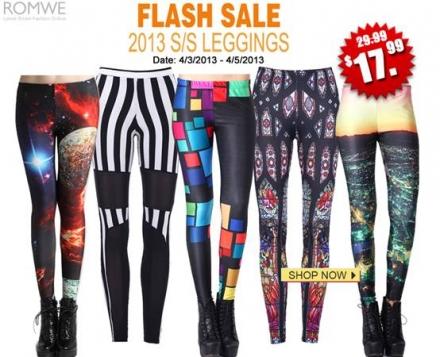 Romwe 2013 SS Leggings Flash Sale