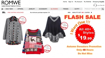 Romwe Flash Sale IV