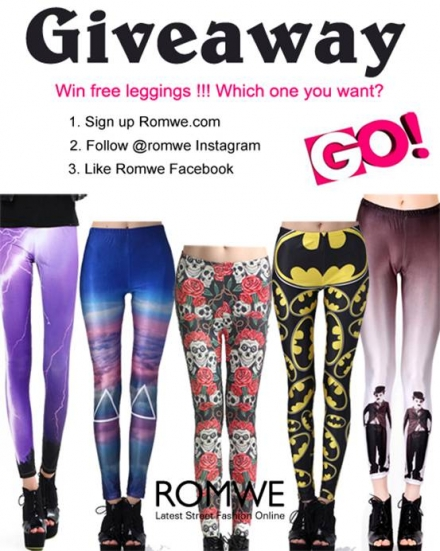 Romwe giveaway – win free leggings