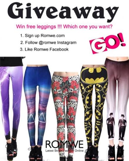 Romwe giveaway – win free leggings