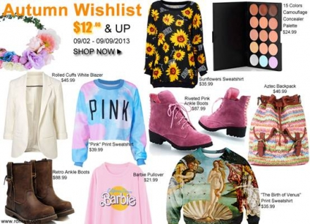 Romwe autumn wishlist