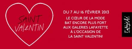 La St Valentin aux Galeries Lafayette