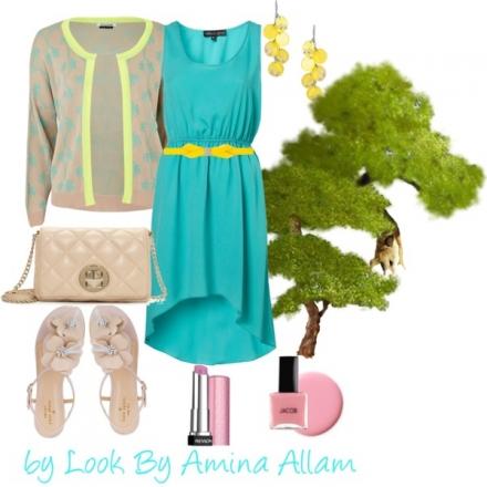 La robe turquoise de Topshop