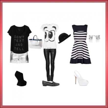 3 tenues black&white