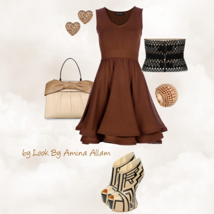 Une belle robe marron