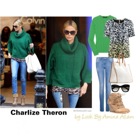 Adoptez le look casual de Charlize Theron