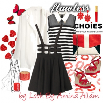 Black, red & white by Choies