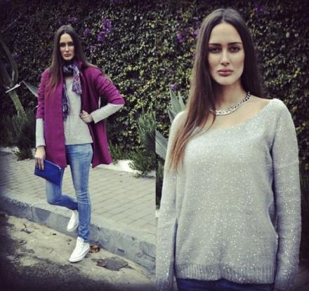 17022014 – 6KS grey sequin jumper