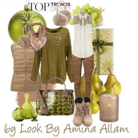 Du vert chartreuse et du camel