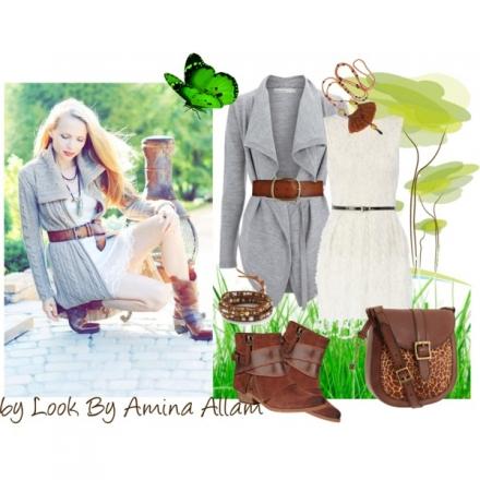Version automne de votre robe blanche