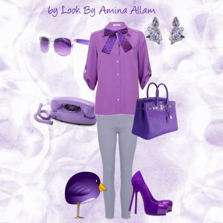 On mélange le gris et le violet