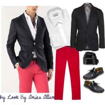 L'homme en pantalon rouge