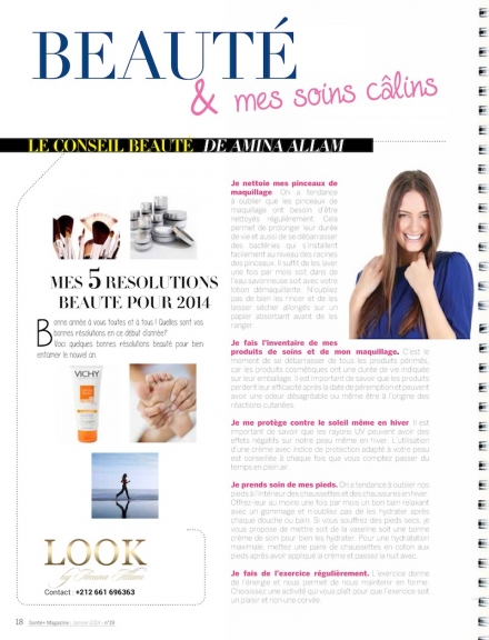 Mes 5 résolutions beauté dans Santé+ magazine