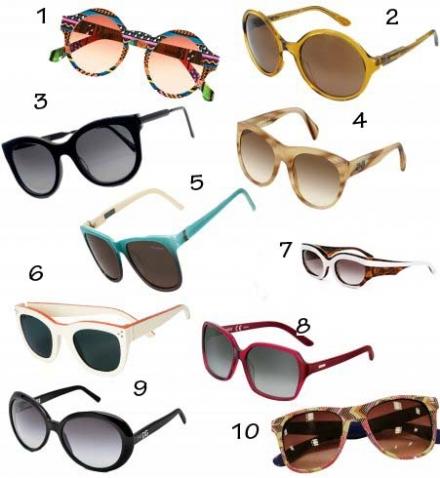 Les lunettes de soleil 2012